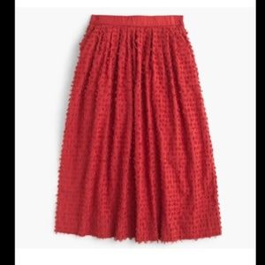 J. Crew Midi Skirt in cotton clip-dot